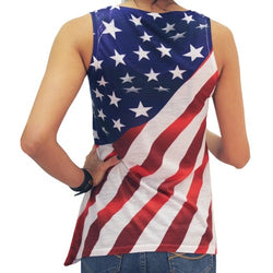 Diagonal Stars and Stripes Flag Tank - The Flag Shirt