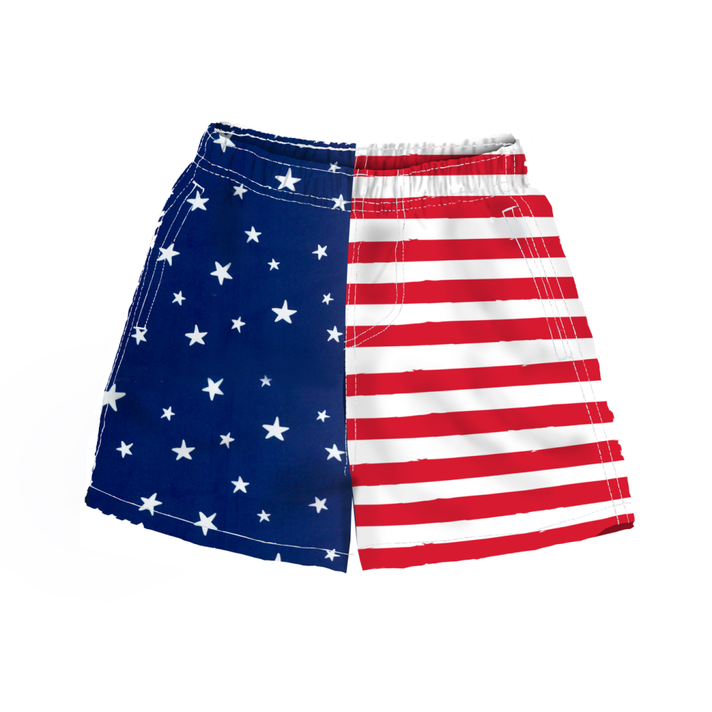 Stars and Stripes Toddler Swim Shorts - the flag shirt