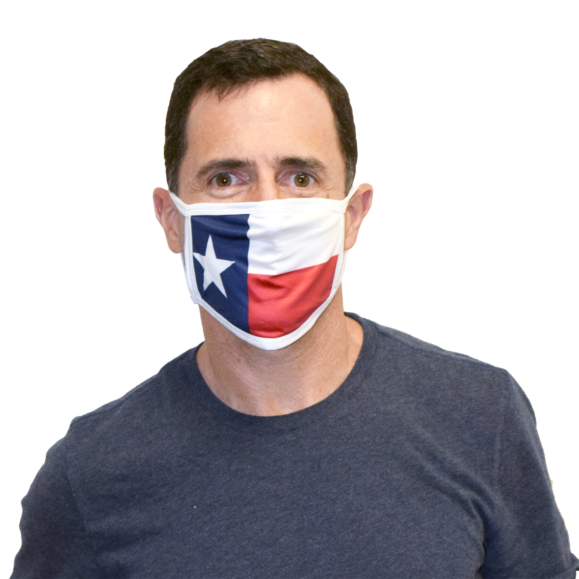 Cloth Face Covering with Texas Flag