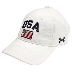 Under Armour USA Performance Cap White - The Flag Shirt