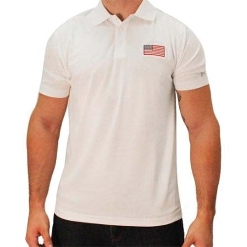 Mens Under Armour Patriotic Performance Polo White - theflagshirt