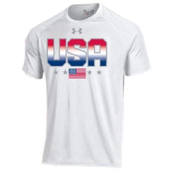Under Armour USA Flag Performance T-Shirt - White