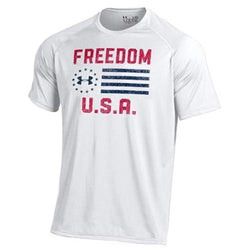 Under Armour Freedom USA Performance T-Shirt - White