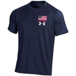 USA Flag Under Armour Performance T-Shirt-Navy - The Flag Shirt