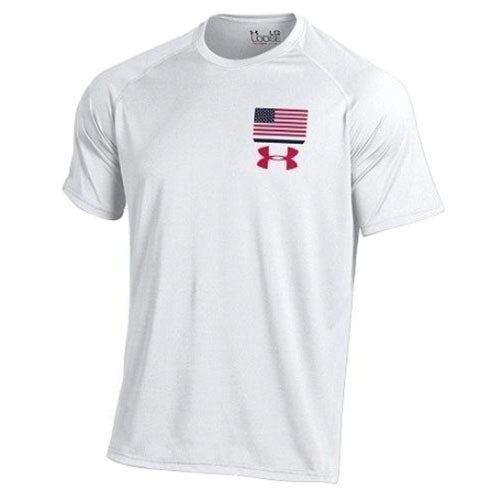 Usa Flag Under Armour Performance T Shirt White The Flag