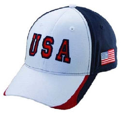 USA41-Hat-White - The Flag Shirt