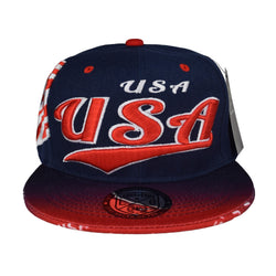 USA Flag Snapback Cap