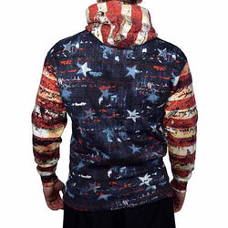 Mens USA Vintage Flag Pullover