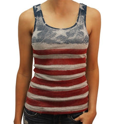 Stars and Stripes ribbed tank top - The Flag Shirt