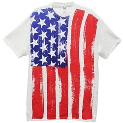 Distressed USA Vertical Flag Mens Tee - The Flag Shirt
