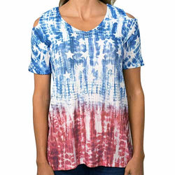 Americana Off Shoulder Tunic - The Flag Shirt