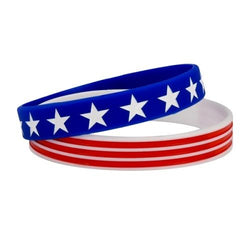 White Stars Red Stripes Wristband - The Flag Shirt