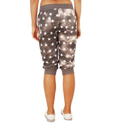 Juniors Patriotic Stars Cuffed Cropped Pants - The Flag Shirt
