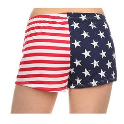 Stars and Stripes Print Shorts - The Flag Shirt