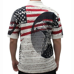 We The People Knit Mens Polo Shirt - The Flag Shirt