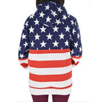 Load image into Gallery viewer, Women's Patriotic Stars Full Zip Hoodie