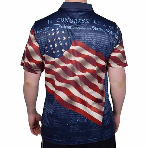 American Flag Shirt Tech Fabric - Navy - The Flag Shirt
