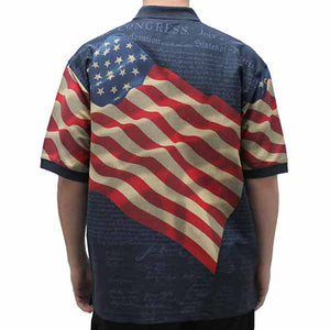 Patriotic Shirt with Waving American Flag - The Flag Shirt