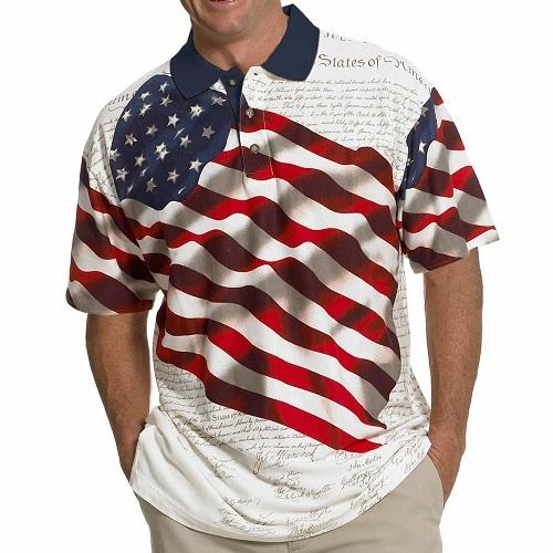 American Flag Shirt Tech Fabric - The Flag Shirt