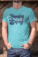 Load image into Gallery viewer, America Strong Retro T-Shirt