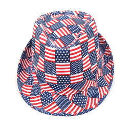American Flag Fedora Abstract - The Flag Shirt