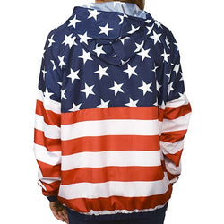 Women Full Zipper Patriotic Hoodie Jacket