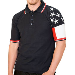 Freedom Pique Mens Polo Shirt - Navy RP550N - The Flag Shirt