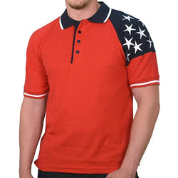 Mens Freedom Pique Polo Red