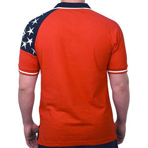 Freedom Pique Mens Polo Shirt - Red