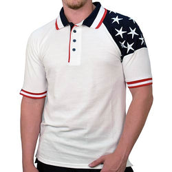 Freedom Pique Mens Polo - White