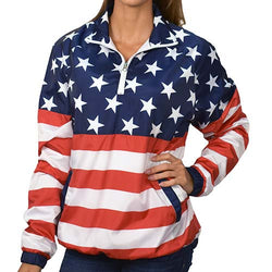 Womens American Flag Pullover