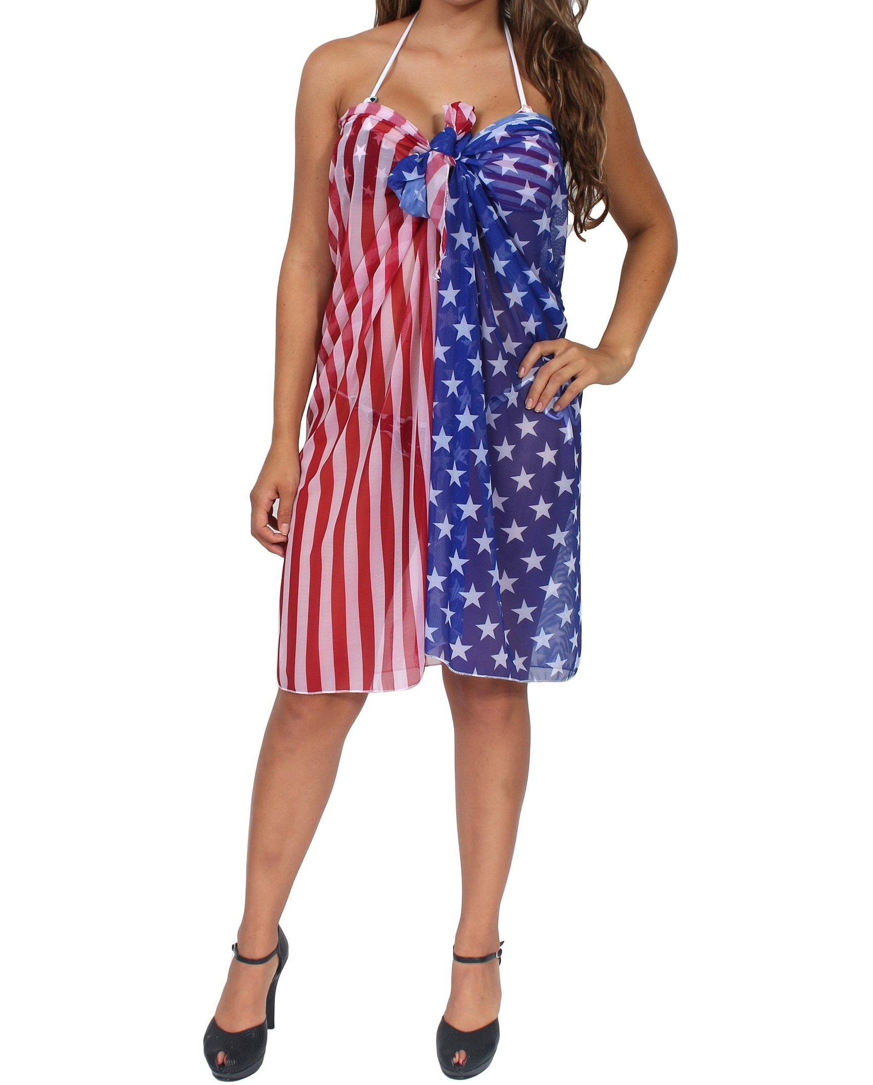 USA Stars and Stripes Cover Up Wrap - The Flag Shirt