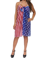 Load image into Gallery viewer, USA Stars and Stripes Cover Up Wrap - The Flag Shirt