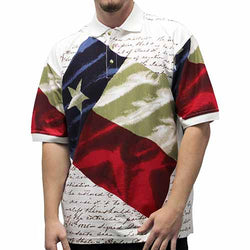 Texas Flag Mens Polo Shirt - The Flag Shirt
