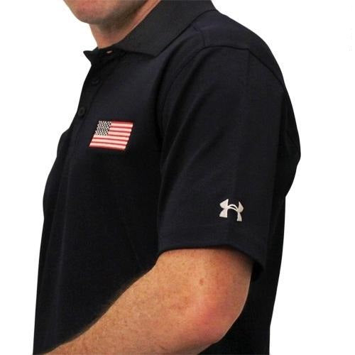 Men's Under Armour American Flag Performance Polo