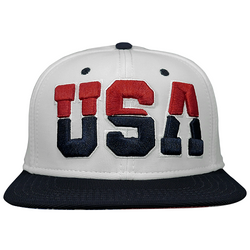 USA embroidery white hat