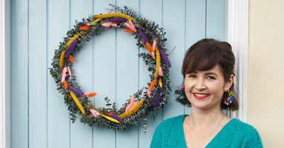How To Make A Colourful Christmas Wreath