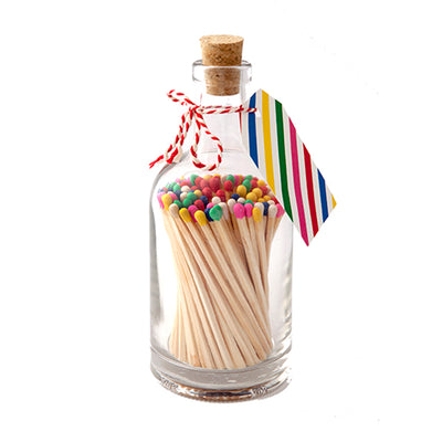 Shop for Matchstick Bottle - Rainbow Stripes at Lisa Comfort Home
