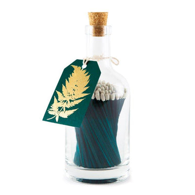 Shop for Matchstick Bottle - Teal Fern at Lisa Comfort Home