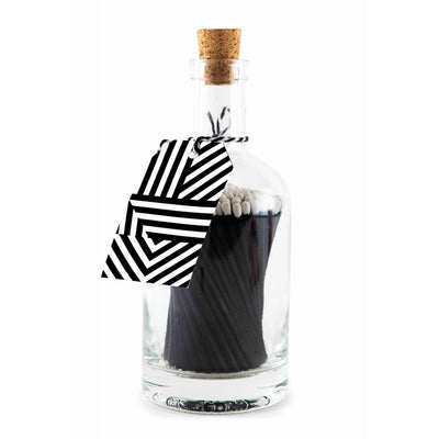 Matchstick Bottle - Black Geometric - Lisa Comfort Home