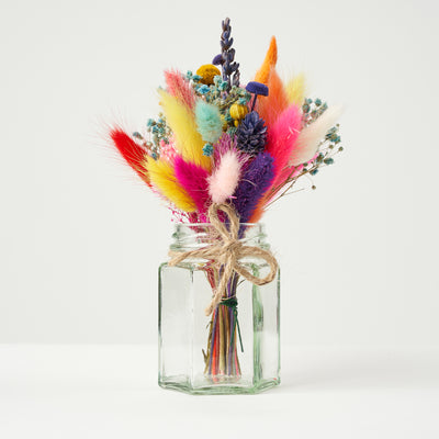 Mini Dried Bouquet In Jam Jar - Lisa Comfort Home