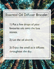 Load image into Gallery viewer, Lava Stone Diffuser Bracelet - Sweet Dreams Essential Oil Set