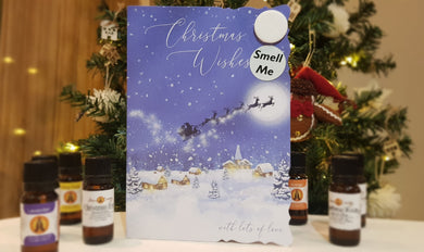 Scented Christmas card - Christmas Wishes