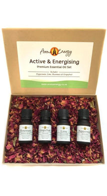 Active & Energising - Essential Oil Gift Set - Aroma Energy