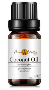 Coconut Fractionated Oil - Base/Carrier Oils, Pure & Natural - Aroma Energy