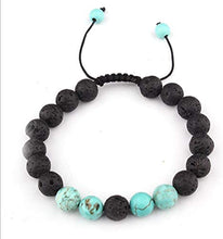 Load image into Gallery viewer, Lava Stone Diffuser Bracelet - Energising Set - Aroma Energy