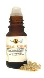 Sacral Chakra Roll On Oil With Citrine Crystals - Aroma Energy