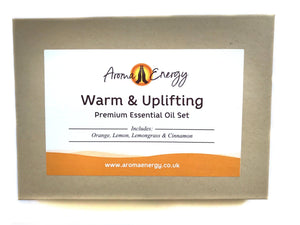Warm & Uplifting - Essential Oil Gift Set - Aroma Energy