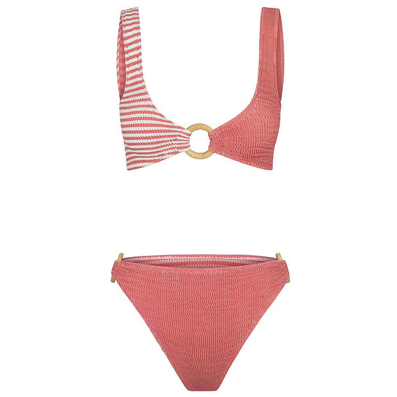 Cleonie Ripple Multi Brief Coral Stripe