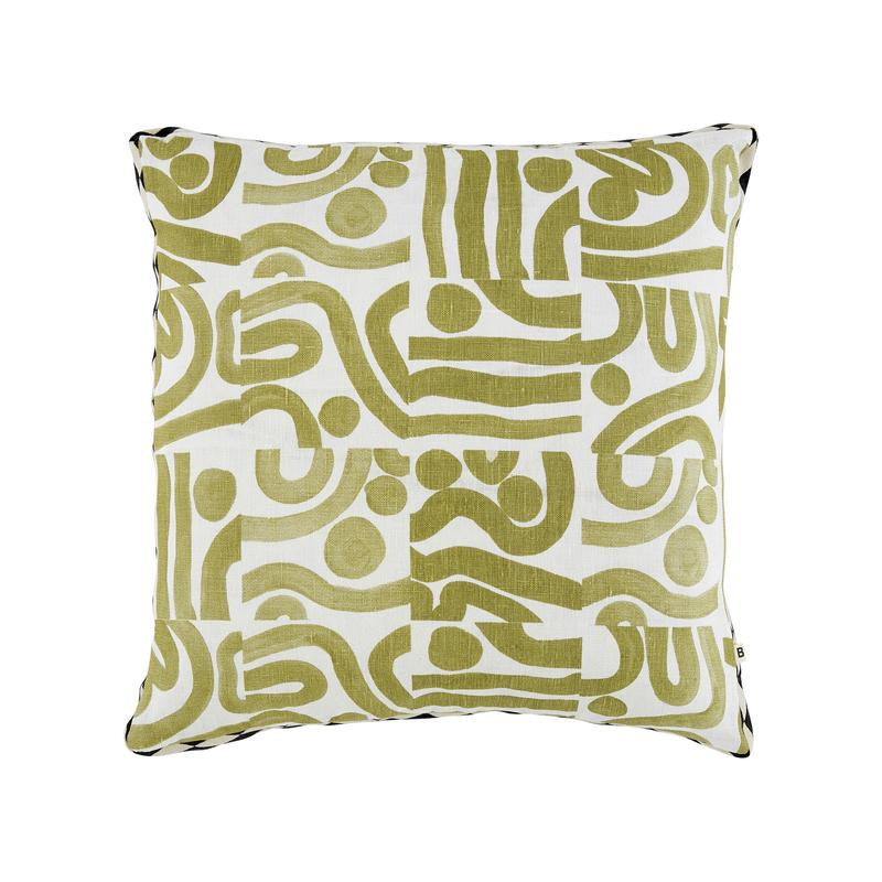 Bonnie and Neil Ocean Khaki Cushion